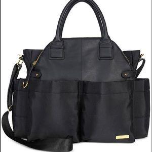 Skip Hop Chelsea Downtown Black & Gold Diaper Bag